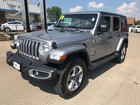 Pre-Owned 2019 Jeep Wrangler Unlimited Sahara 4WD 4D Sport Utility